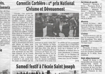 PRIX NATIONAL DU CIVISME Journal LA DEPECHE2019